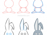 Easy Drawings Rabbit How to Draw A Rabbit Comment Dessiner Un Lapin Easter Crafts