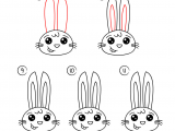 Easy Drawings Rabbit Pin Od Poua A Vatea A Michaela Marhulova Na Nastenke Kreslenie Draw
