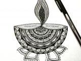 Easy Drawings Related to Diwali Countdown to Diwali Repost Mandala Inspired Deepa A Diya or
