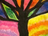 Easy Drawings Using Oil Pastels Art is Basic Art Teacher Blog Abstract Oil Pastel Trees 4th 5th