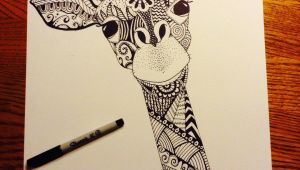 Easy Drawings with Sharpies Giraffe Zentangle Sharpie Art Artist Liz Leonard Art In 2019