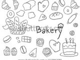 Easy Drawings with Texture Cute Simple Childish Hand Drawn Bakery Line Art Element for