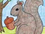 Easy Fall Pictures to Draw Art Projects for Kids How to Draw A Squirrel Filler Art