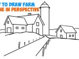 Easy Fall Pictures to Draw How to Draw Farm Scene Fall Spring Scene In Three Point