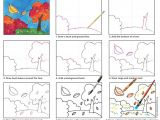 Easy Fall Pictures to Draw Paint A Fall Landscape Landscape Drawing for Kids