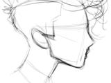 Easy Figure Drawing Drawing Stuff Cool Drawings Line Drawings Hair Drawings