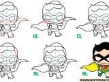 Easy Harley Quinn Drawings Step by Step How to Draw Cute Kawaii Chibi Robin From Dc Comics Batman