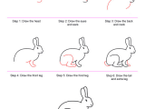 Easy How to Draw A Bunny How to Draw Bunny Rabbits Diy Art Projects Easy Drawings