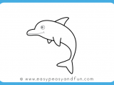 Easy How to Draw A Dolphin How to Draw A Dolphin Step by Step for Kids Printable