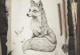 Easy How to Draw A Fox Pencil Drawing Illustration Art Retro Vintage Old Fox