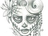 Easy How to Draw A Skull Sugar Skull Lady Drawing Sugar Skull Two by Leelab On
