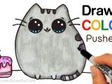 Easy How to Draw Cute Animals How to Draw Color Pusheen Cat Step by Step Easy Cute