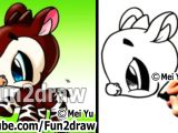 Easy How to Draw Cute Animals New Drawing Video Cartoon Tutorial Okapi How to Draw