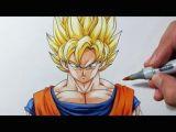 Easy How to Draw Goku 3d Drawing Dragon Ball Z Goku Spirit Bomb Dibujo 3d Goku