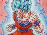 Easy How to Draw Goku How to Draw Goku Super Saiyan Blue Kaioken
