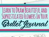 Easy Journal Drawings How to Draw Perfect Flower Doodles for Bullet Journal Spreads