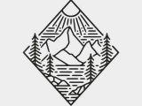 Easy Logo Drawings Aurora Powertrains Enjoy the Silence Of Nature Mountain