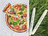 Easy Pizza Drawing Pin Von Matea Piplica Auf Zeichnen Marker Kunst Essen