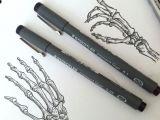 Easy Skeleton Hand Drawing Hand Drawn Skeleton Hands Things to Draw Skeleton Hands