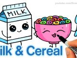 Easy Sleeping Beauty Drawings How to Draw Milk and Cereal Step by Step Cute and Easy