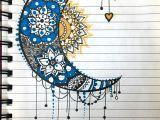 Easy Sun and Moon Drawing Moon Sun Mandala Zentangle Blue Yellow Moon Drawing Sun