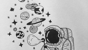Easy to Draw astronaut 35 Cool Easy Whimsical Drawing Ideas Space Drawings