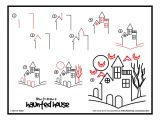 Easy to Draw Halloween Things How to Draw A Haunted House Google Search Easy Halloween