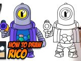 Easy to Draw Nintendo Characters How to Draw Brawl Stars Rico Step by Step Tutorial