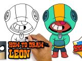 Easy to Draw Nintendo Characters How to Draw Leon Brawl Stars Awesome Step by Step Tutorial