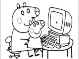 Easy to Draw Peppa Pig Peppa Pig with Her Little Brother George Coloring Pages