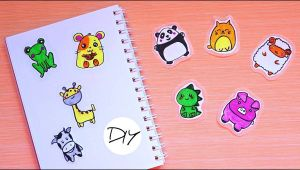 Easy to Draw Stickers 9 Diy Kawaii Animal Stickers Draw Yourself Easy Way