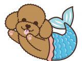 Easy toy Poodle Drawing Poodle Mermaid Magnet In 2020 Poodle Drawing Cute Animal