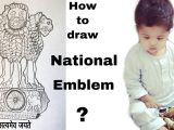 Easy Way to Draw National Emblem Of India How to Draw National Emblem Of India D D