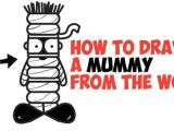 Easy Word Drawings How to Draw A Cartoon Mummy Word toon Cartoon Easy Step