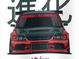 Evo 9 Drawing Lancer Evo Ix Red Poster Graphics Design Pinterest Carro
