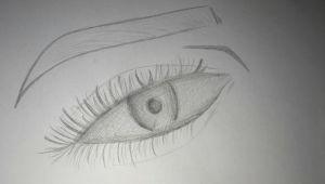 Eye Drawing X Eye Eyebrow Sketch by 14 Yr Old Snr X Drawing X Pinterest