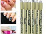 Eyes Nails Drawing Diy tool Black Ink Painting Nail Art Drawing Dotting Pen New Design