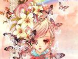 Flowers Drawing Manga Girl Anime Art Illustration Manhwa Pinterest Art Illustrations