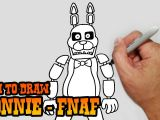 Fnaf 2 Drawing Easy How to Draw Bonnie Five Nights at Freddy S Video Lesson Youtube