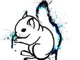 Forest Animals Drawing Squirrels Art Print Print Illustration Decor Art Print