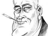 Franklin D Roosevelt Cartoon Drawing 98 Best Caricatures Images
