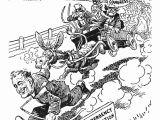 Franklin D Roosevelt Cartoon Drawing New Deal Cartoon 1933 Photograph by Granger
