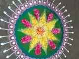 Free Hand Drawing Flowers Rangoli Make these Colorful Rangoli Free Hand Design for Diwali Creative