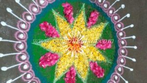 Free Hand Drawing Flowers Rangoli Make these Colorful Rangoli Free Hand Design for Diwali Creative