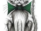 Funny Drawing Of A Cat Posh Puss Print Download Important Looking Pet Cat Kitty Puss
