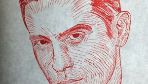 G Eazy Drawing G Eazy Red Pen Drawing Avb Artistry Drawings Art English Projects
