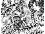 Gangster Clown Girl Drawings Clown Tattoos Design for Girls Prison Art Lowrider Art