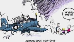 George W Bush Cartoon Drawing Utk Grad S Cartoon Of Bush Reunited with Family In Heaven Goes Viral