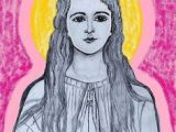 Girl Drawing Jesus 127 Best Drawings Of Jesus Mary and the Saints by Kathleen Ellinger