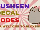 Girl Drawing Roblox Decal Pusheen Decal Codes Welcome to Bloxburg Youtube
